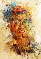 Abstract Splatter Portrait by YongL