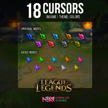 Color Cursors Ingame  - League of Legends by AliceeMad