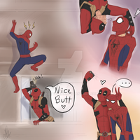 Spideypool by KatzeLexie