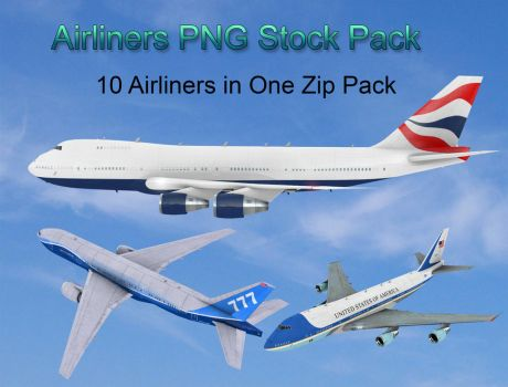 Airliners PNG Stock Pack by Roy3D