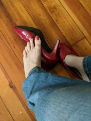 Red Patent Heels #3 by LadyStrangeCreations
