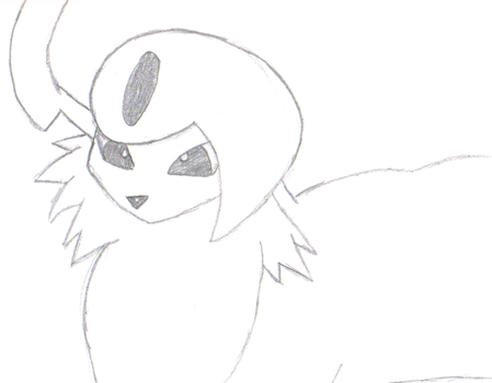 Absol Sketch by EmuCheeze