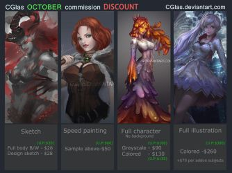 OCTOBER COMMISSION DISCOUNT! by CGlas