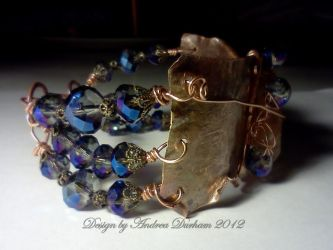 Side view of Copper Bracelet by designsbyandrea