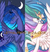MLP Sisters Princesses bookmarks by LethalPepsi