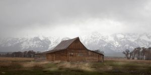 Moulton Barn stormy weather by DGAnder