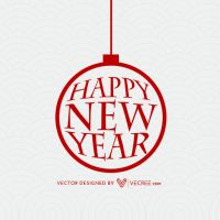 New Year Greeting Card Free Vector by vecree