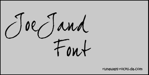JoeJand Font by runaways-rocks