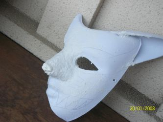 Cosplay part one of my kyuubi half mask by Orbit16