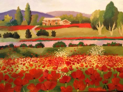 Field of Poppies by iBoopYourNose