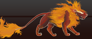 Inferno Lion Auction Adoptable [CLOSED] by DiamondDust-DA