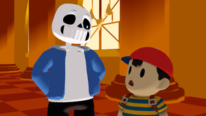 Sans and Ness by Kitshime-SP