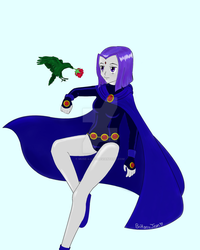 Raven and Beastboy Contest Entry by Muse-4-Life