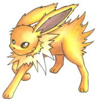 Jolteon by chameleonskyes