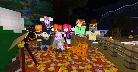 Minecraft Poses - The Best Friends Crew (Not all) by KittyCake192