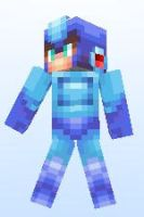 Minecraft skin - Megaman by FontesMakua