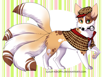 CLOSED | Detective kitsune auction by gold-adopts