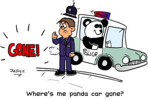 Where's me panda car by Young-Freddy