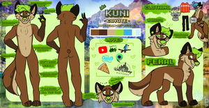 Kuni Ref Sheet 2018 by mysterypaws