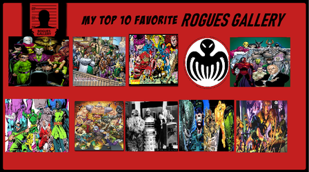 Top 10 Favorite Rogues Gallery by theaven