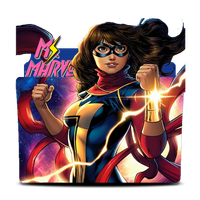 Ms Marvel  Comics Folder Icon by WanderlustSailor