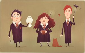 The Golden Trio by AudreyBenjaminsen