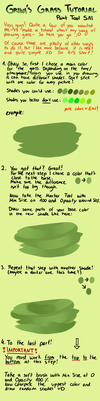 How to draw grass - tutorial by Griwi