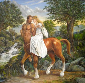 The Last Centaur painting by dashinvaine