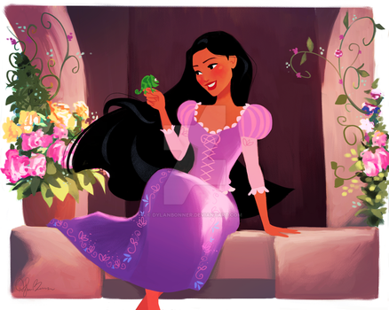 Pocahontas in Rapunzel's World by DylanBonner