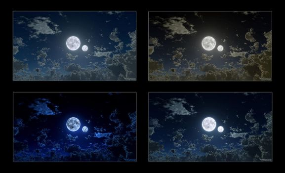 The Moon and Lunaria 1080p Wallpaper Pack by nethskie