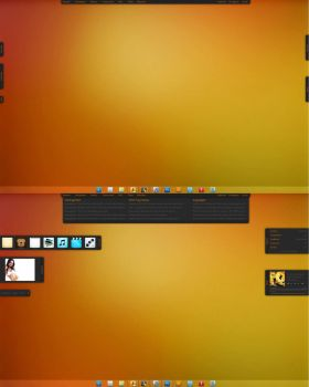 Warm orange Desktop by C0deC0ld