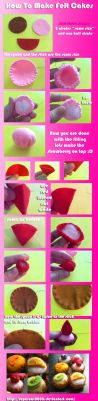 How to make felt cakes by SuperCat0000