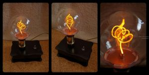 Small DIY Steampunk lamp by P3droD