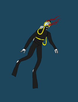 The Scuba Diver by triple65forkedtongue