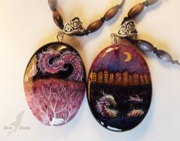 Two different worlds- (stone painting) by AlviaAlcedo