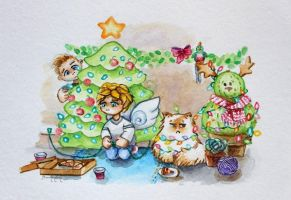 Watercolor - Merry Christmas from Ceb and Julian by barananduen