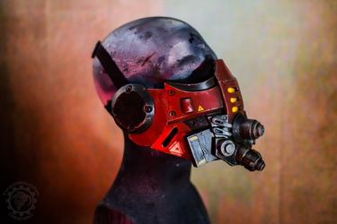 Red Tremor 2.0 mask by TwoHornsUnited