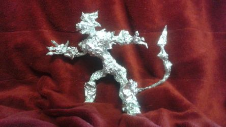 Wirewolf - Aluminum Foil Sculpture by TheFoilGuy