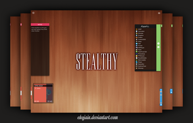 STEALTHY : Black Coffee (Rainmeter) by Ekojain