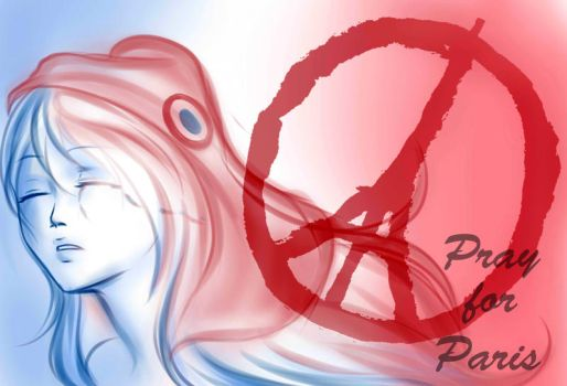 Pray for Paris by MairisuAmane