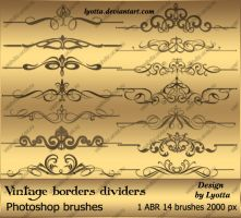 Vintage borders dividers by Lyotta