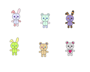 Plushie adopts (open) by AnklesocksFox