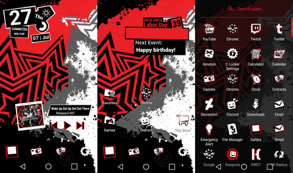 Persona 5 Android theme! (Tutorial in the Desc.) by Ape1ron