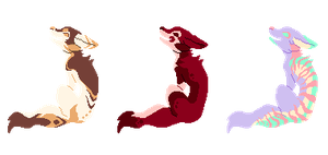 [1/3 OPEN] pixel impression canines! by Sharklore