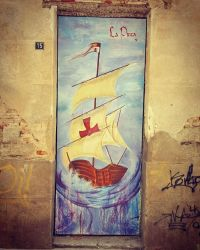 La Pinta (Christopher Colombus) - Street Art by Cristy-spain