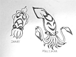Project Fakemon: Inkay and Malimar