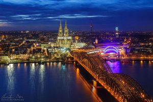 Cologne Cityscape by Nightline