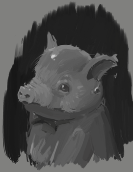 Piglet with a Pearl Earring by k4aos