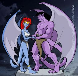 Demona and Goliath by Inspector97