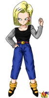 Android 18 Buu Saga Render by Madmaxepic